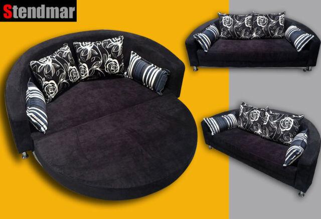 Round Microfiber Sofa