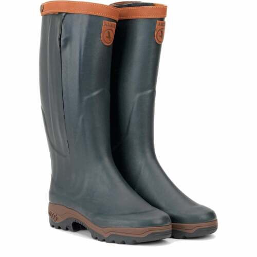 Aigle Parcours 2 Signature Open Leather Lined Full Zip Wellies RRP £310 Now £229