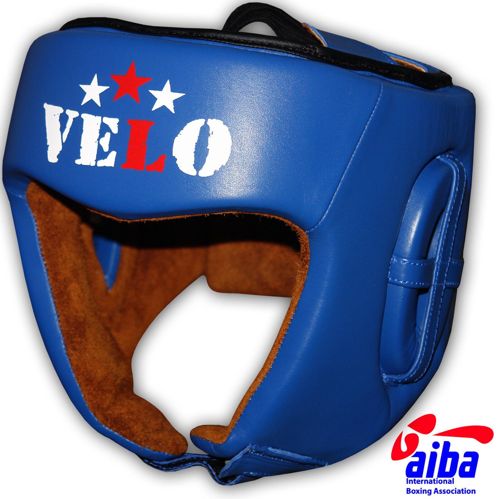 VELO aiba Kopfschutz offiziell Pro Leder Boxen Kopf Schutzausrüstung