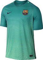Nike Men's Barcelona Third Soccer Jersey Medium Swoosh Design Green Glow