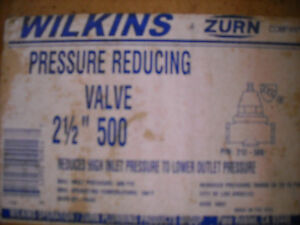 wilkins zurn 500 2 5 inline water pressure regulating valve 2 1 2. Black Bedroom Furniture Sets. Home Design Ideas