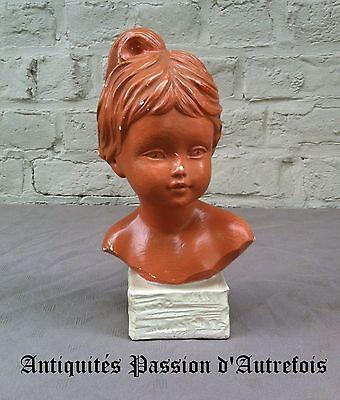 B2017360 - Salvatore Melani - Buste En Plâtre - 25 Cm De Hauteur - 1902-1934 Om Geavanceerde Technologie Te Adopteren