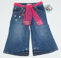 Zoey 101 Girls Size 10 Cropped Denim Jeans Charms Pink Sequins Belt