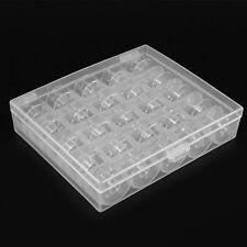 25 Bobinas Máquina de Coser Caja Plástico Organizadora Costura Hilos Bobbins Box
