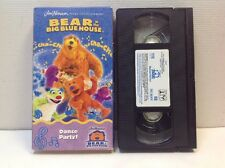Bear in the Big Blue House - Dance Party (VHS, 2002) Very Good Condition