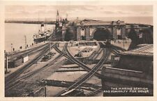POSTCARD  KENT - DOVER - THE  MARINE STATION & ADMIRALTY PIER