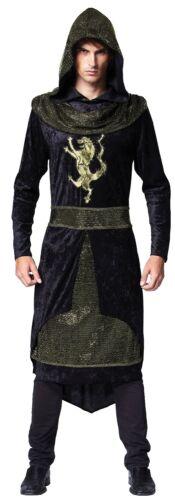 Mens Black Medieval Sheriff of Nottingham Robin Hood Fancy Dress Costume Outfit