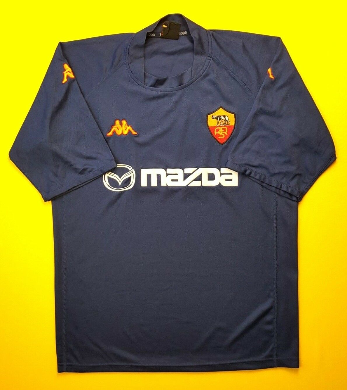 abab242900a 4.8 5 Roma third jersey XL 2002 shirt football Kappa soccer 2003 ...