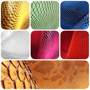 109dd98dc578 3D SNAKE FAUX LEATHER VINYL FABRIC 54