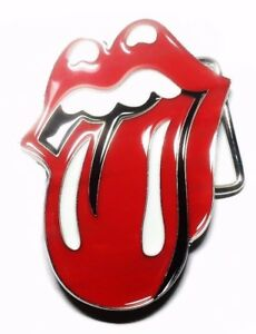 Image Is Loading The Rolling Stones Tongue Logo Metal Enamel Belt