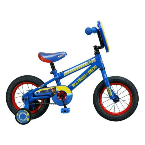 "Blue Kids 12/"" Paw Patrol Steel Frame Bicycle with Training Wheels"