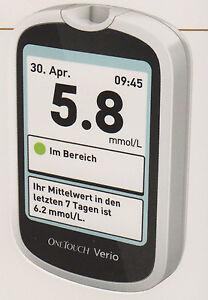 Onetouch Verio Medidor de Glucosa en Sangre Mmol / L/L Plus Tiras de Ensayo -