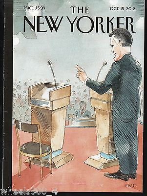 "The New Yorker Magazine October 15, 2012 ""One on One"" by Barry Blitt Excellent"
