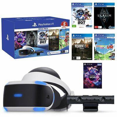 Sony Playstation VR Mega Bundle With 5 Virtual Reality Games PSVR Headset Camera | eBay