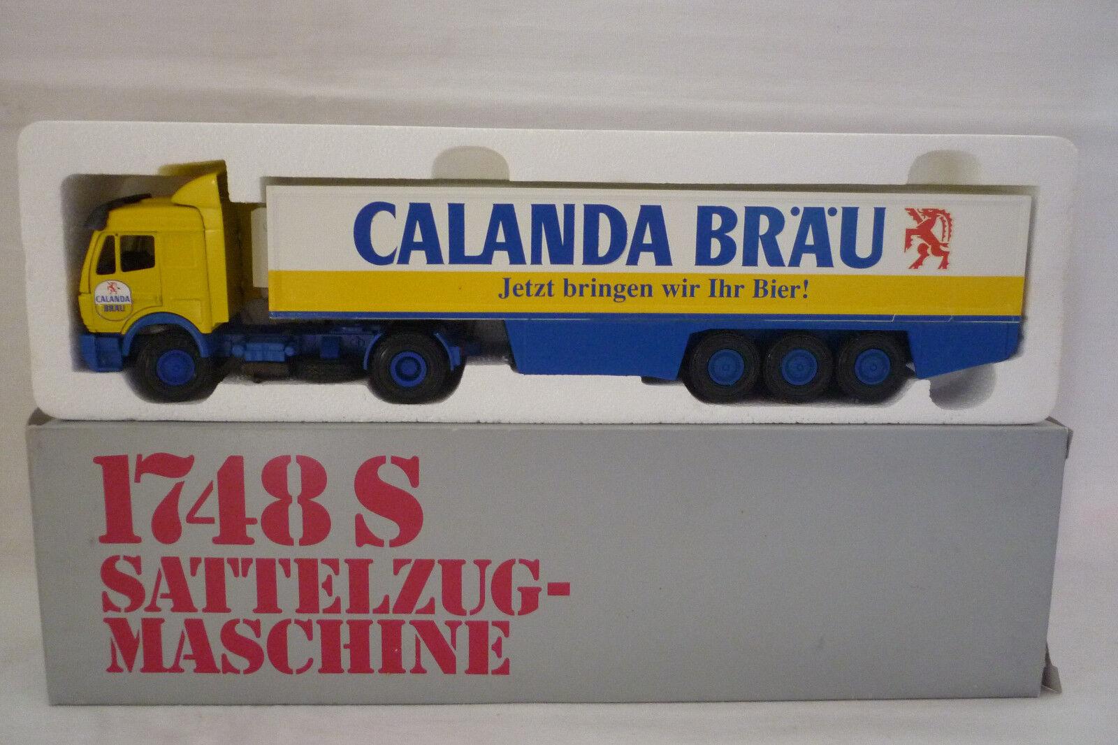Nzg - Metal Model - Mercedes Benz Calanda Bräu Lorry 1 43 Ovp 7.bm-236