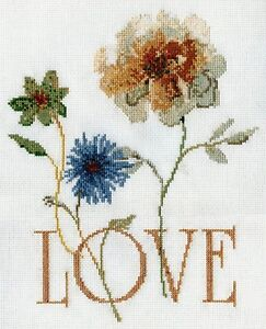 Design-Works-Counted-Cross-Stitch-Picture-Kit-GOLDEN-LOVE-9-034-x-11-034