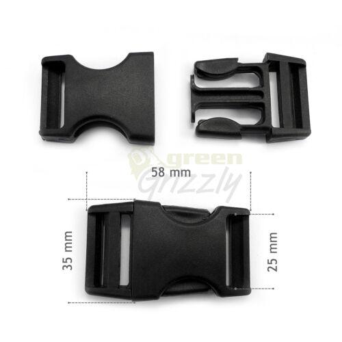 Plastic single adjusting side release buckles for 25 mm webbing AHF
