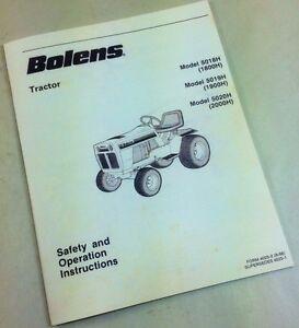 bolens mower garden tractor 5018h 5019h 5020h safety operators rh ebay com Instruction Manual Owner's Manual