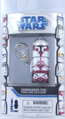 STAR WARS Commander FOX Keychain Keyring Stack /'Em Lucas Clone Retired NEW S3