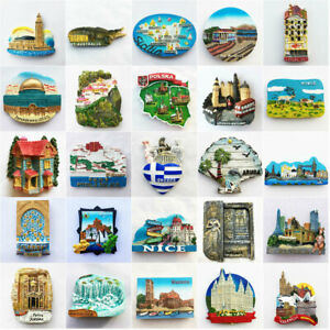 3D-Europe-North-America-Fridge-Magnet-Refrigerator-Sticker-Art-Country-City-Gift