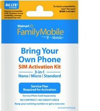 Nano Walmart Family Mobile Iphone 6 7 Plus Powered By T-Mobile Sim Cardx2