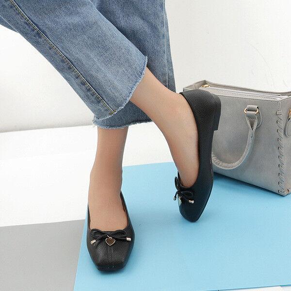 Ballerine mocassini chaussures noir  eleganti  simil pelle 2.5 cm comode 1389