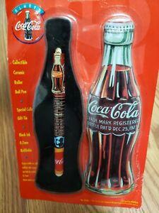 Vintage 1996 Coca Cola Ceramic Roller Ball Pen with Collectors Tin!