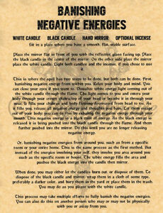 Details about Banish Negative Energy, Book of Shadows Spells Page,  Witchcraft, Wicca