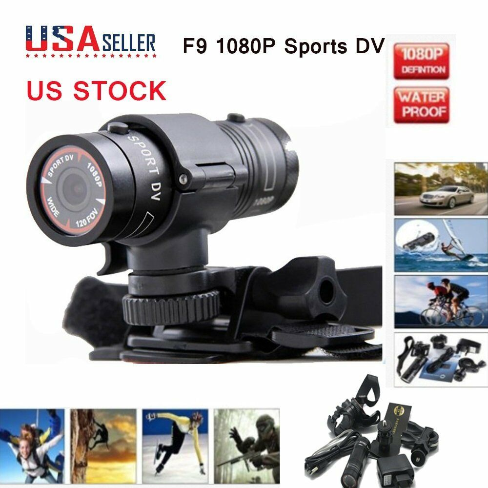 F9 FHD 1080P Bike Motorcycle Helmet Sport Camera Video Recorder DV Camcorder USA Featured