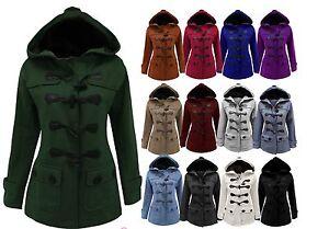Veste-Polaire-Femme-style-duffle-a-capuche-manteau