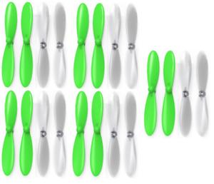 Hubsan X4 H107D Green Clear Propeller Blades Props 5x Propellers