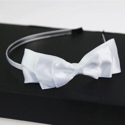 Women And Girl Big Bowknot Ribbon Headband Bow Head Band Clip Hair Accessory