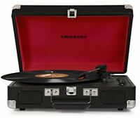 3-speed Bluetooth Turntable, Record Player Stereo Speakers Portable Black on sale