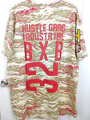 New w// Tags Hustle Brand Mens M  2X 3X Short Sleeve T Shirt Black Hustl SS NWT