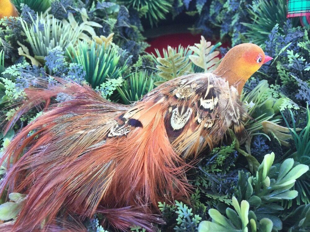 VINTAGE Christmas Wreath Wreath Wreath PARTRIDGE In PEAR TREE Feather BIRDS Door Decor Floral da1ed5