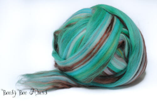 Wool Roving Custom Blend Merino Silk Bamboo Combed Top 4 oz SLEEPING BEAUTY