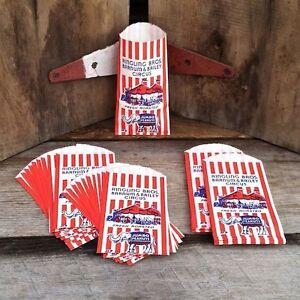 10-Vintage-Original-RINGLING-BROS-BARNUM-BAILEY-1940s-Circus-JUMBO-Peanuts-Bags