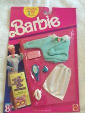 Barbie Doll Fashions 1989 Knit Collection Blue Sweater Skirt Clothing 8031 NEW