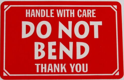 500 2x3 DO NOT BEND Handle With Care Label Sticker FREE SHIPPING