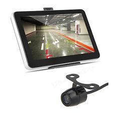 """7"""" Touch Screen Car GPS Navigation Mirror Monitor +Rear View Backup Camera"""