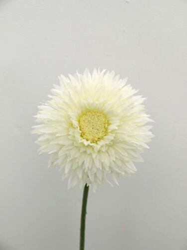 Artificial Silk Flower Cream Double Gerbera