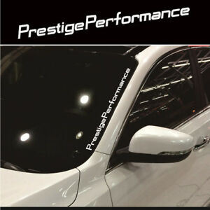 White-JDM-Prestige-Performance-Windshield-Vinyl-for-Car-Universal-Sticker-Decal