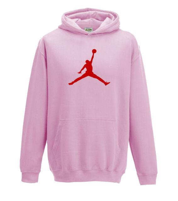036da96669b21a JUKO Children s Jordan Hoodie Basketball Michael Bulls Air NBA Unisex Pink  5-6 Years