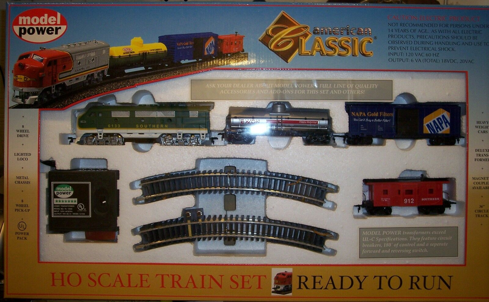 HO TRAINS SOUTHERN  AMERICAN CLASSIC TRAIN     1028 FS SOUTHERN TRAIN SET