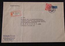 Einschreiben BRD Mi.-Nr. 137 EF Dillenburg-Giessen Lahn - b3224