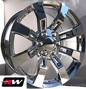 20 inch RW CK375 Wheels for Chevy Truck Chrome Rims 6x139.7 6x5.50 ... 7709937255