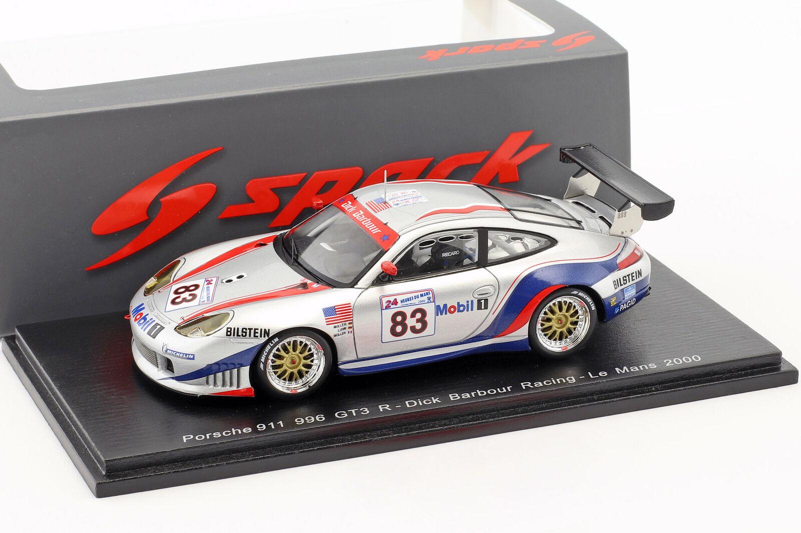 Porsche 911 GT3-R #83 24h Lemans 2000 Müller, Luhr , Woller 1:43 Spark