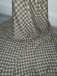 Ivory Brown Tartan Print Brushed Cotton Fabric 58/'/' PRICE PER METER