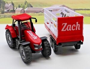 PERSONALISED-NAME-Gift-Red-Farm-Tractor-Trailer-Boys-Toy-Christmas-Present-Box