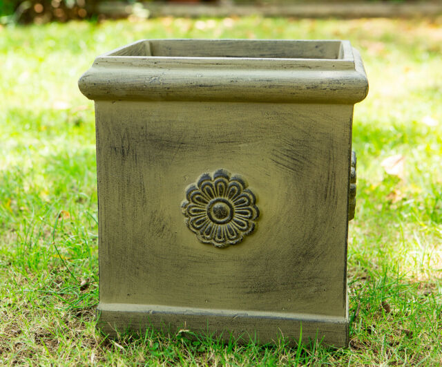 Konte Square Concrete Planter Box Garden Pot For Indoor Outdoor Use